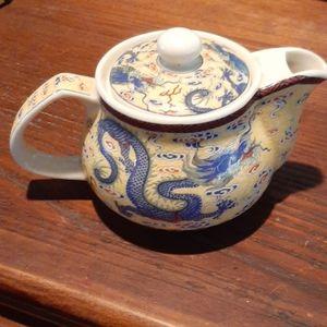 Vintage Asian Dragon Small Teapot